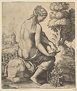 Venus removing a thorn from her foot
