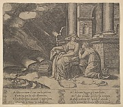 Plate 27: Proserpina gives Psyche the box of beauty, from 'The Fable of Cupid and Psyche'