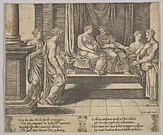 The Two Sisters of Psyche Are Married to Kings, Psyche is Presented to a King, from The Fable of Psyche