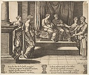The Two Sisters of Psyche Are Married, Psyche is Presented to a King, from The Fable of Psyche