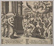 Plate 2: the people rendering divine honors to Psyche, from 'The Fable of Psyche'