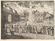 "Procession through the Hippodrome, Constantinople (Aubry de La Mottraye's ""Travels throughout Europe, Asia and into Part of Africa...,""  London, 1724, vol. I, plate 15)"