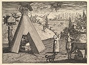 "A Lapland Hut (Aubry de La Mottraye's ""Travels throughout Europe, Asia and into Part of Africa...,""  London, 1724, vol. II, pl. 38)"