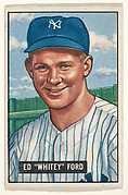 "Ed ""Whitey"" Ford, Pitcher, New York Yankees, from Picture Cards, series 5 (R406-5) issued by Bowman Gum"