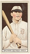 Bauman, Detroit, American League, from the Brown Background series (T207) for the American Tobacco Company