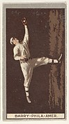 Barry, Philadelphia, American League, from the Brown Background series (T207) for the American Tobacco Company