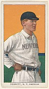 Demmitt, New York, American League, from the White Border series (T206) for the American Tobacco Company