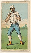 "Thompson, Right Field, Detroit, from ""Gold Coin"" Tobacco Issue"