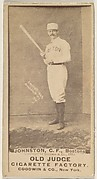 Johnston, Center Field, Boston, from the Old Judge series (N172) for Old Judge Cigarettes