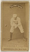 O'Rourke, Catcher, Boston, from the Old Judge series (N172) for Old Judge Cigarettes