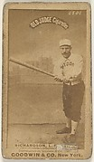 Richardson, Left Field, Boston, from the Old Judge series (N172) for Old Judge Cigarettes