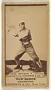 Chas. Brynan, Pitcher, Chicago, from the Old Judge series (N172) for Old Judge Cigarettes