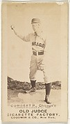 Gumbert, Pitcher, Chicago, from the Old Judge series (N172) for Old Judge Cigarettes