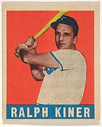 Ralph Kiner, Pittsburgh Pirates, from All-Star Baseball series (R401-1), issued by Leaf Gum Company