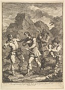 Don Quixote and the Knight of the Rock (Illustrations for Don Quixote)