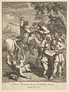 The Freeing of the Galley Slaves (Six Illustrations for Don Quixote)
