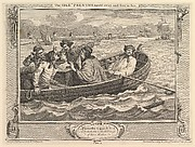 The Idle 'Prentice Turned Away and Sent to Sea (Industry and Idleness, plate 5)