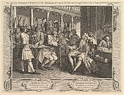 The Industrious 'Prentice Alderman of London, the Idle One Brought Before Him & Impeached by his Accomplice (Industry and Idleness, plate 10)