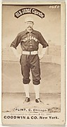 "Frank Sylvester ""Silver"" Flint, Catcher, Chicago, from the Old Judge series (N172) for Old Judge Cigarettes"