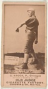 "August H. ""Gus"" Krock, Pitcher, Chicago, from the Old Judge series (N172) for Old Judge Cigarettes"