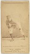 Nicholson, Pitcher, Chicago, from the Old Judge series (N172) for Old Judge Cigarettes