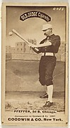 """Fred """"Dandelion"""" Pfeffer, 2nd Base, Chicago, from the Old Judge series (N172) for Old Judge Cigarettes"""