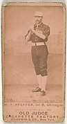 "Fred ""Dandelion"" Pfeffer, 2nd Base, Chicago, from the Old Judge series (N172) for Old Judge Cigarettes"
