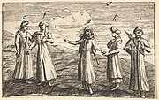 "Five Standing Muscovites (Aubry de La Mottraye's ""Travels throughout Europe, Asia and into Part of Africa...,""  London, 1724)"