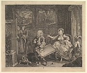 A Harlot&amp;#39;s Progress, Plate 2