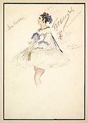 Costume Design for 'Fifth Ballet Girl' (Short White Dress)