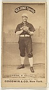 Emil Geiss, Pitcher, Chicago, from the Old Judge series (N172) for Old Judge Cigarettes