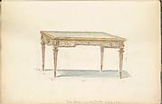 Design for a Louis XVI Period Style Desk
