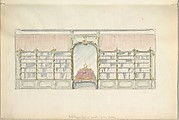 Design for the Wall of a Library in a late Rococo Style