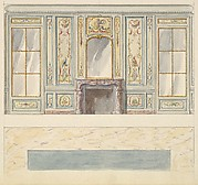 Design for a Wall Elevation for a Mirror Room with Chimney (Fifth Floor)