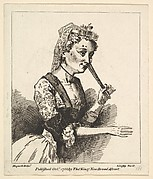 """Surprised Woman from Hogarth's """"Morning"""""""