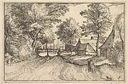 Village Road from Regiunculae et Villae Aliquot Ducatus Brabantiae