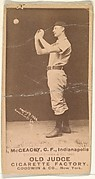 Jack McGeachey, Center Field, Indianapolis, from the Old Judge series (N172) for Old Judge Cigarettes