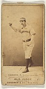 Lev Shreve, Pitcher, Indianapolis, from the Old Judge series (N172) for Old Judge Cigarettes