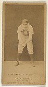 "John Thomas ""Tug"" Arundel, Catcher, Indianapolis, from the Old Judge series (N172) for Old Judge Cigarettes"