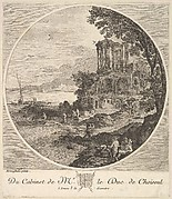 Seascape with the Ruins of the Temple of the Sybil at Tivoli after a painting in the cabinet of the Duc de Choiseul