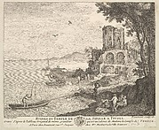 Ruins of the Temple of the Sybil in Tivoli (Ruines du Temple de la Sibille a Tivoli) after the painting in the collection of Madame la Comtesse de Verrue