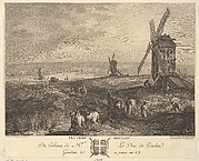 The Three Windmills (Les Trois Moulins) after a painting in the collection of the Duc de Praslin