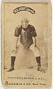 "William ""California"" Brown, Catcher, New York, from the Old Judge series (N172) for Old Judge Cigarettes"