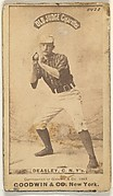"Thomas H. ""Pat"" Deasley, Catcher, New York, from the Old Judge series (N172) for Old Judge Cigarettes"