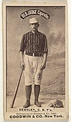 """Thomas H. """"Pat"""" Deasley, Catcher, New York, from the Old Judge series (N172) for Old Judge Cigarettes"""