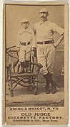 """William """"Buck"""" Ewing, Captain and Catcher, with Mascot, New York, from the Old Judge series (N172) for Old Judge Cigarettes"""