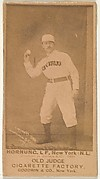 Hornung, Left Field, New York, from the Old Judge series (N172) for Old Judge Cigarettes