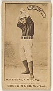 "Michael ""Mike"" Joseph Mattimore, Pitcher, New York, from the Old Judge series (N172) for Old Judge Cigarettes"
