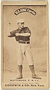"""Michael """"Mike"""" Joseph Mattimore, Pitcher, New York, from the Old Judge series (N172) for Old Judge Cigarettes"""
