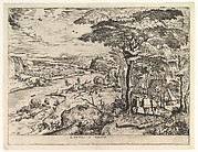 Euntes in Emaus (Landscape with Pilgrims at Emmaus) from the series The Large Landscapes